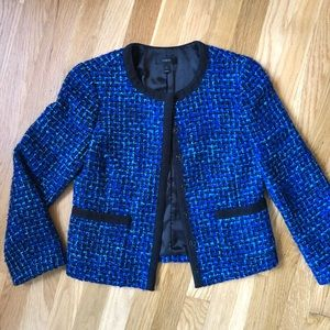 J. CREW Electric Blue Tweed Blazer